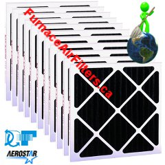 Dafco Aerostar 10x20x2 MERV 6 Activated Carbon Package Of 12